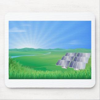 Sonnenkollektorlandschaftsillustration Mauspad