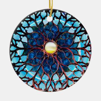 Sonnenlicht nach Sturm Rundes Keramik Ornament