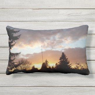 Sonnenlichter Morgen - Gott ist gut Kissen Für Draußen