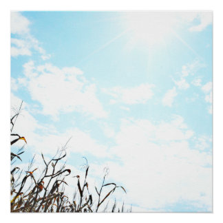 Sonnenschein an einem bewölkten Tag Poster