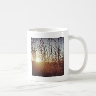 Sonnenschein durch die Grasland-Gräser Tasse