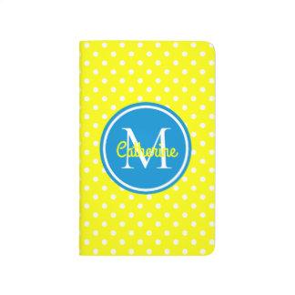 Sonnenschein-Gelb und Sommer-blaues Taschennotizbuch