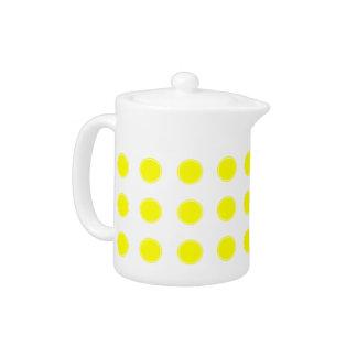 Sonnenschein-gelbe Tupfen auf Weiß