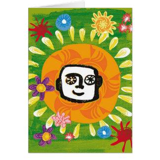 Sonnenschein-glückliche Reise Karte