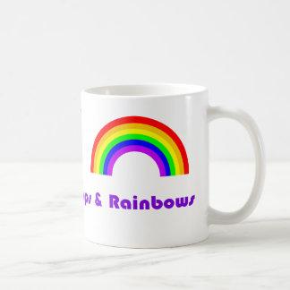 Sonnenschein-Lutscher und Regenbogen Tasse