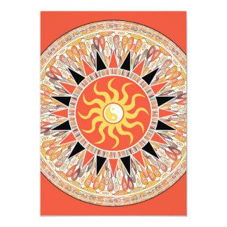 Sonnenschein-Mandala 12,7 X 17,8 Cm Einladungskarte