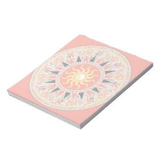 Sonnenschein-Mandala Notizblock
