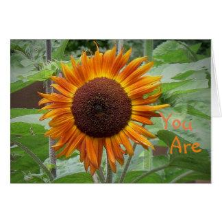 Sonnenschein meiner Leben-Sonnenblume-Gruß-Karte Karte