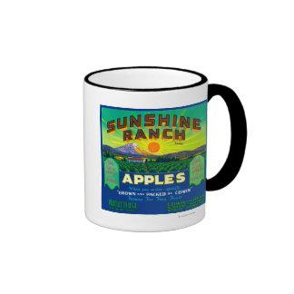 Sonnenschein-Ranch Apple beschriften - Wapato, WA Tee Tassen