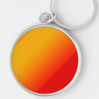 Sonnenschein-Regenbogenschablone Silberfarbener Runder Schlüsselanhänger