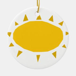 Sonnenschein, scheinender Sun, Cartoon Keramik Ornament