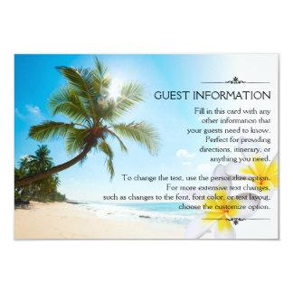 Sonnenschein-Strand-PalmenPlumerias, die Info 8,9 X 12,7 Cm Einladungskarte