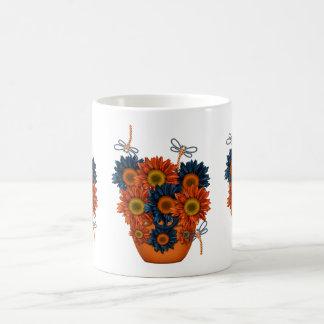 Sonnenschein Tasse mit Libellen und Blumen