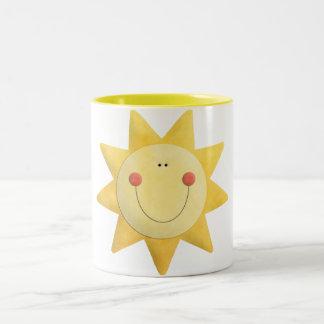 Sonnenschein-Tasse Zweifarbige Tasse