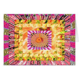 Sonnenschein-und Chakra Collagen-künstlerische Karte