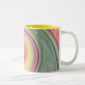 Sonnenschein- und Regenbogenrotation Kaffee-Tasse Zweifarbige Tasse