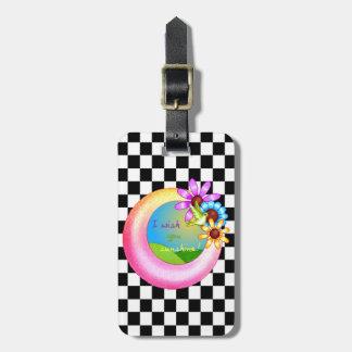 Sonnenschein-Wunsch-Pixel-Kunst Kofferanhänger