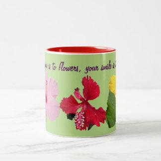 Sonnenschein zu den Blumen Zweifarbige Tasse