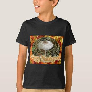 Sonnenschirm-Pilz-glückliche Erntedank-Reihe T-Shirt