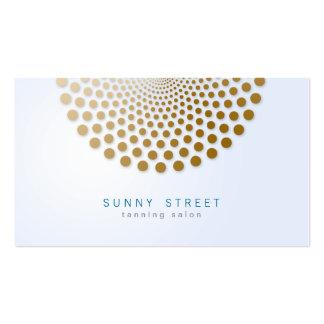 Sonnenstudio-Visitenkarte-Kreis punktiert Motiv