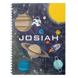 Sonnensystem, Astronaut und Raumschiff Notizblock