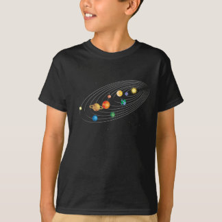 Sonnensystem auf Kinderschwarzem T-Stück T-Shirt