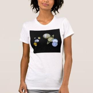 Sonnensystem-Damen-Unterhemd - T-Shirt