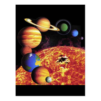 Sonnensystem-Planeten-Postkarte Postkarten