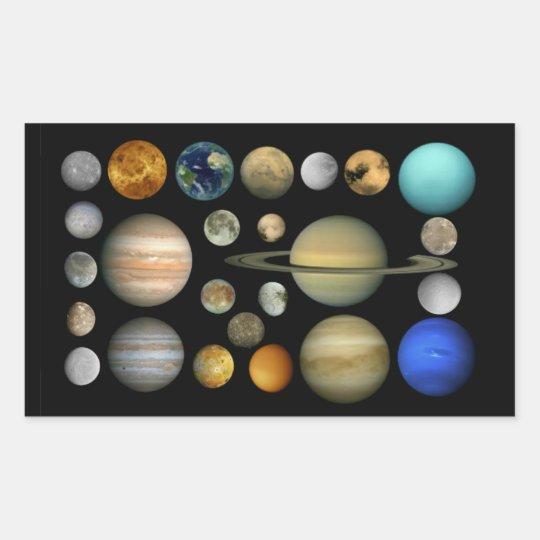 Sonnensystem Rechteckiger Aufkleber