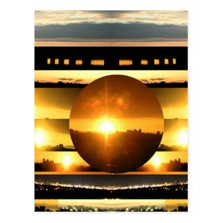 SONNENSYSTEM:   SONNE-SET: Goldene heilende Postkarten