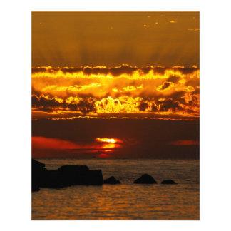 Sonnenuntergang 11,4 X 14,2 Cm Flyer
