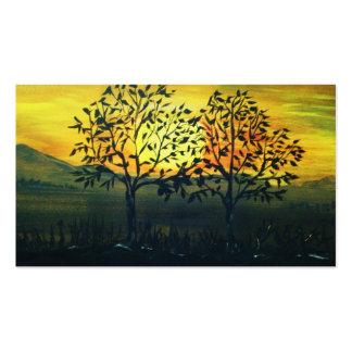 """""""Sonnenuntergang 2""""  Orginalbild von Eva Borowski Visitenkarten Vorlage"""