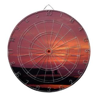 Sonnenuntergang 3 dartscheibe