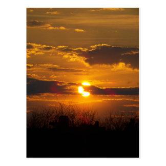 Sonnenuntergang 5 postkarte