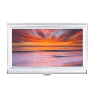 Sonnenuntergang abstrakt von Tamarack Strand Visitenkarten Etui