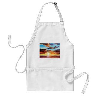 Sonnenuntergang-Acrylmalerei Schürze