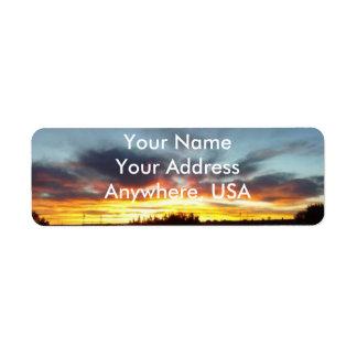 Sonnenuntergang-Adressen-Etiketten