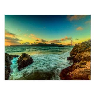 Sonnenuntergang am Bäcker-Strand Postkarte