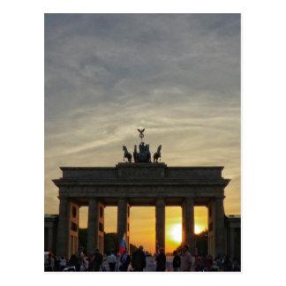 Sonnenuntergang am Brandenburger Tor, Berlin Postkarte