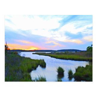 Sonnenuntergang am Delaware-Ufer Postkarte