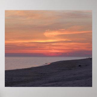 Sonnenuntergang am Golf stützt Alabama unter Poster
