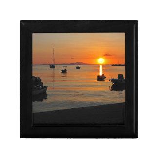 Sonnenuntergang am Hafen von Novalja n iKroatien Erinnerungskiste
