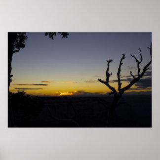 Sonnenuntergang am Hopi-Punkt Poster