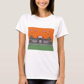 Sonnenuntergang am Reichstag Gebäude in Berlin T-Shirt
