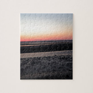 Sonnenuntergang am Strand in New-Jersey Puzzle