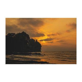 Sonnenuntergang am Strand in Webster New York Leinwanddruck