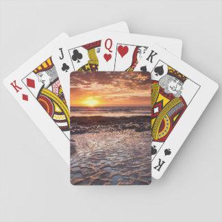 Sonnenuntergang am Strand, Kalifornien Spielkarten
