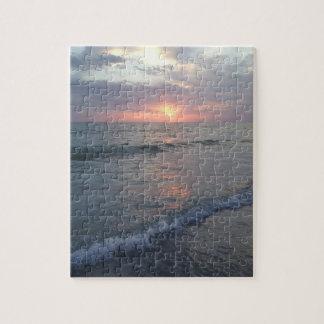 Sonnenuntergang am Strand-Puzzlespiel Puzzle