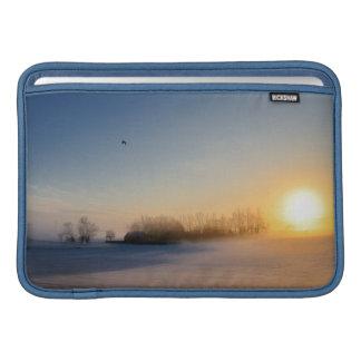 Sonnenuntergang am Weihnachtstag in der Landschaft Sleeve Fürs MacBook Air