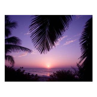 Sonnenuntergang am West End, Kaiman Brac, die Postkarte